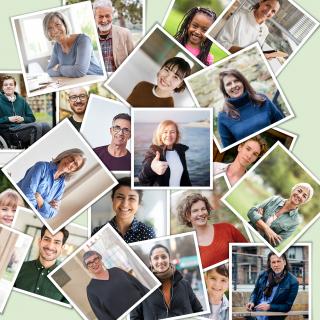 Stiftungstage Keyvisual mit vielen Gesichtern